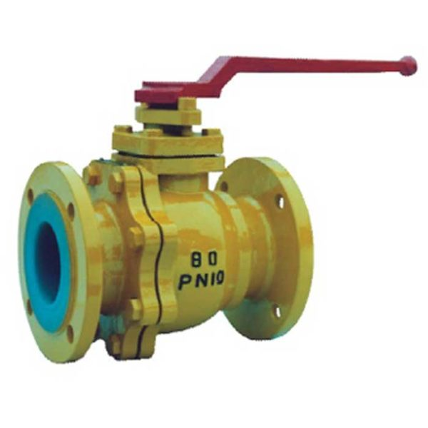Fluorine lined ball valve