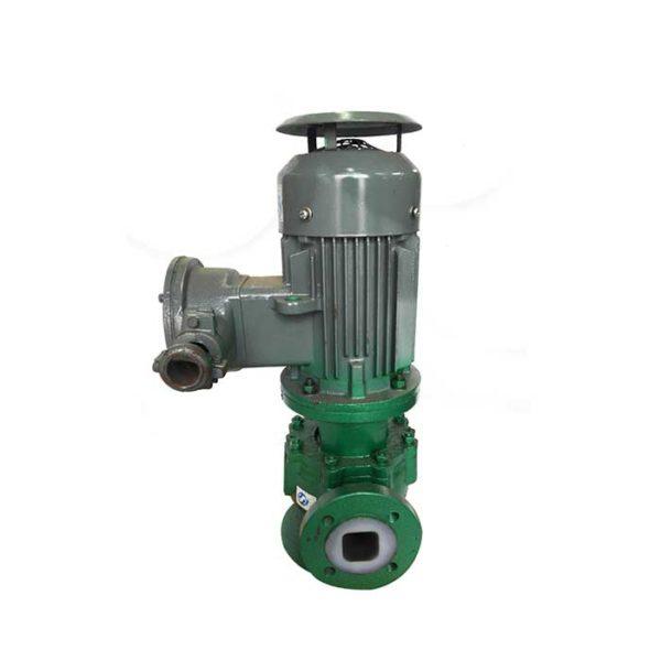 Inline chemical pump