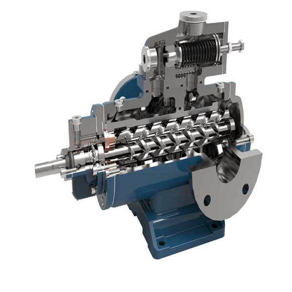 The three screw pump is suitable for conveying non-abrasive particles, has no chemical corrosion to the pump material, and has a lubricious liquid.